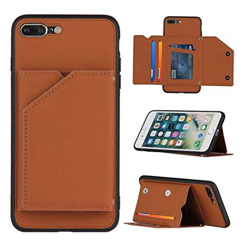 WJMWF Hoesje voor iphone XS Max [Screen Protector] PU Leder Etui Hoezen Portemonnee [Twee Magnetische Sluiting…