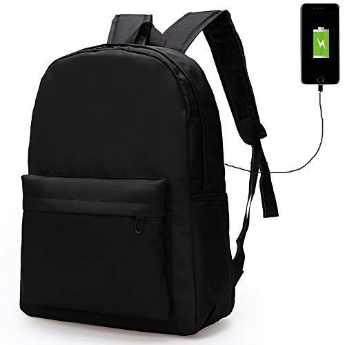 Pomety Travel Laptop Backpack, Computer Backpack with USB Charging Port for Men Women,College School Bag Business Rucksack Casual Daypack for Boys Girls Fits Laptop (Color : Black)