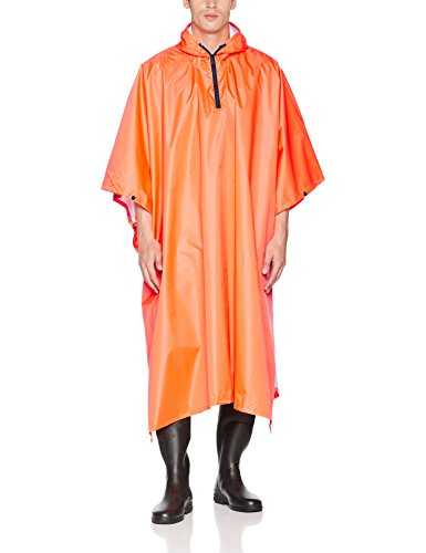 Pinewood Herren Rainfall Poncho, orange, One Size
