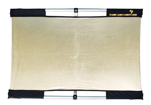 SUNBOUNCER MICRO-MINI TRAVELER KIT ZEBRA /GOLD-SILBER -Rückseite weiß (nahtlos)