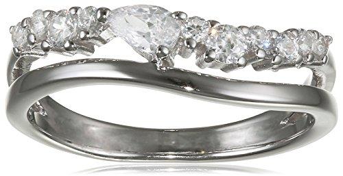 Esprit Essential Damen-Ring ES-DIADEM 925 Silber rhodiniert Zirkonia transparent Gr. 54 (17.2) - ESRG92847A170