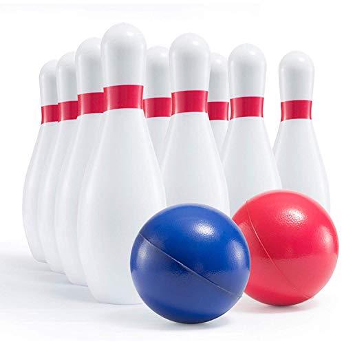 Prextex Schaumstoff-Bowling-Set in Kindergröße, Robustes Bowling-Set für Kinder