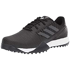 adidas Men's CODECHAOS Sport Golf Shoe, core Black/Dark Solid Grey/Glory Blue, 9.5 Medium US