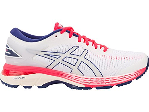 ASICS Women's Gel-Kayano 25 Running Shoes, 6M, White/White