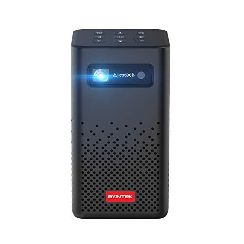 BYINTEK P20 Mini Proiettori Portatile, Android Wifi LED DLP Pico Video Proiettori con Batteria Ricaricabile Supporta 1080p 4K Home Theater proiettore, Proiezione Wireless per PC Tablet Smartphone