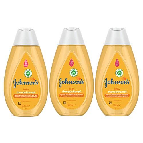 Johnson's Baby Champú Clásico, Pelo Suave, Brillante e Hidratado, 3 x 300 ml