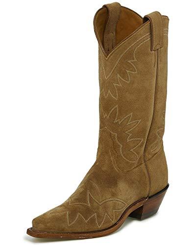 "Tony Lama Womens Vernita Snip Toe Western Cowboy Boots Mid Calf Low Heel 1-2"" - Brown - Size 10 B"