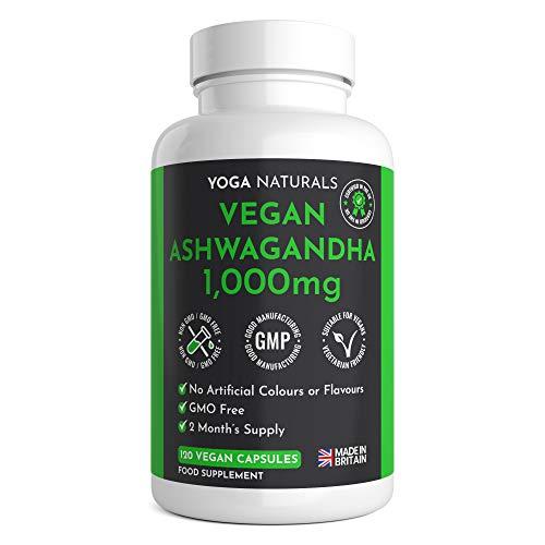 Vegan Ashwagandha 1000mg | 120 Capsules | Premium Natural Supplement | 2 Month Supply | UK Manufactured by Trusted Brand | Ashwagandha Capsules | Ashwaghanda UK | Ashwagandha Powder