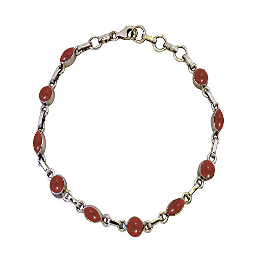 JewelryOnClick Mujer Hombre Unisex Round,Marquise Red Ónix rojo natural