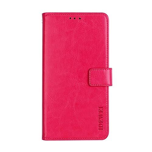 PROTECTIVECOVER+ / Compatible with CUBOT Note Plus Crazy Horse Texture Horizontal Flip Ledertasche mit Halter & Kartensteckplätze & Geldbörse , Mode Telefon hülle schutzhülle ( Color : Rose Red )