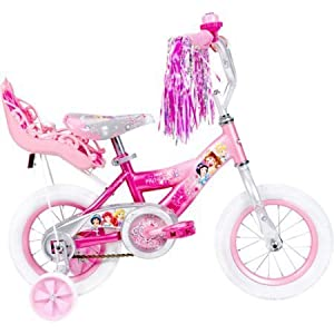 12 Huffy 52454 Steel Bicycle Frame Disney Princess Girls' Bike with Doll Carrier, Pink Color by Huffy -