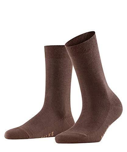 FALKE Damen Socken Family - 94% Baumwolle, 1 Paar, Braun (Dark Brown 5239), Größe: 35-38