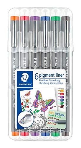 ステッドラー 水性ペン ピグメントライナー 線書ペン 0.5mm 6色 30805-SSB6