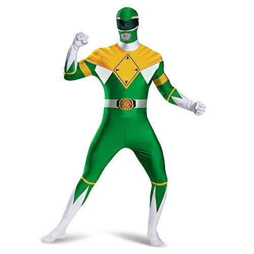 Disguise Men's Green Ranger Bodysuit Costume, Green, X-Large