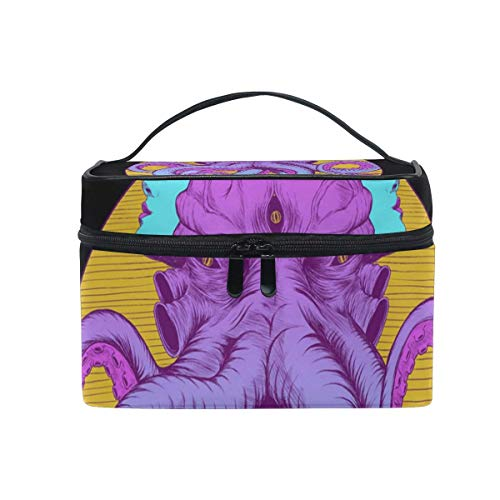 Octopus Cosmetic Bag Toiletry Travel Makeup Case Handle Pouch Multi-Function Organizer for Women-92K