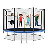 14 FT Bouncer with Spring Cover Recreational Bouncing Equipment with Safety Enclosure for Kids Adults Backyard Outdoor