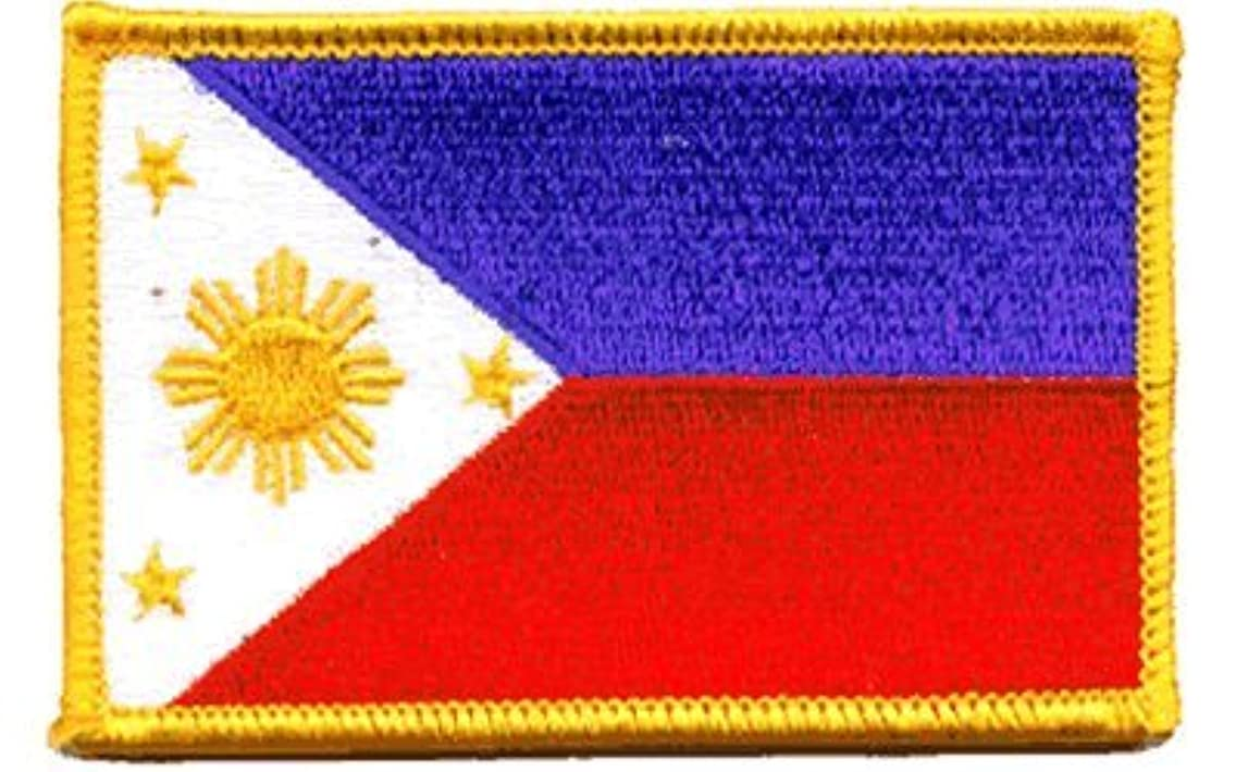 Philippines iron-on embroidered patch