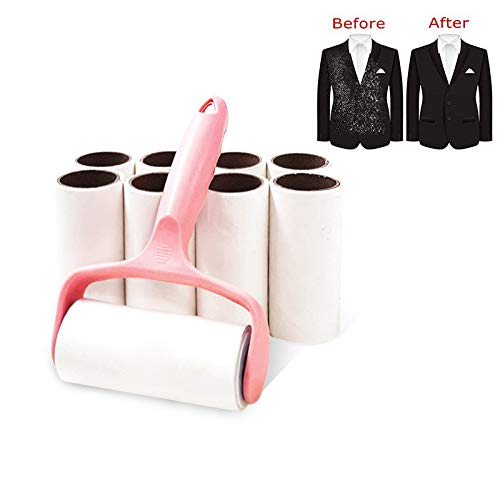 JHIN Lint Roller Huisdier Haarverwijderaar Sticky Stof Roll Cleaner 9 Refills(Each 60 Sheets) voor Kleding Auto Stoel Tapijt Sofa Tapijt Bekleding Vloer