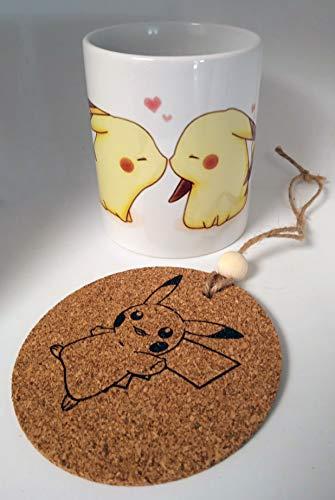 Taza Pikachu beso + chapa