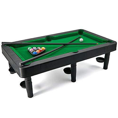 SRENTA 19' X 11' Champion Pool Table Set with Mini Pool Balls Cue Sticks Accessories, Complete Small...