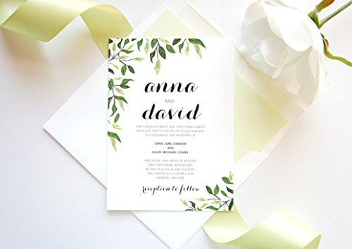 Garden Wedding Invitation- SAMPLE SET