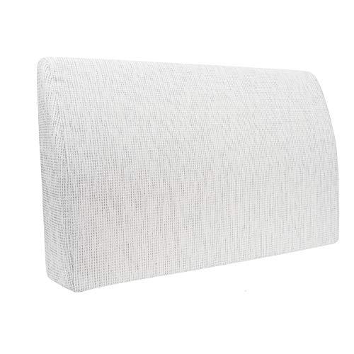 Formalind - Cuscino per letto e divano, 70 x 45 x 15 cm, per guardare la televisione e leggere, design elegante, in tessuto imbottito, Poliestere, bianco, 70 x 45 x 15 cm