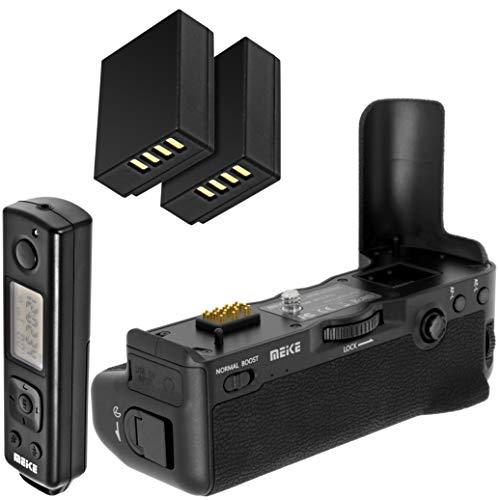 Meike Empuñadura de batería Empuñadura de batería battery grip para Fujifilm X-T2 equivalente a Fujifilm VPB-XT2 con disparador remoto Alcance de 100 m y dos NP-W126 Réplica Baterías – MK de XT2 Pro