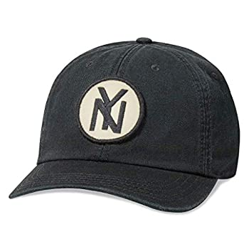 AMERICAN NEEDLE New York Black Yankees Baseball Hat Vintage Negro League Casual Relaxed Fit with Curved Brim Adjustable Buckle Strap Dad Cap Hepcat Collection Black  43877A-NBY-BLK