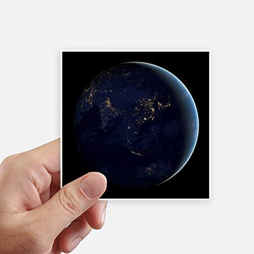 DIYthinker Univers Espace Bleu Planète Terre Autocollant carré de 10 cm Mur Valise pour Ordinateur Portable Motobike Decal 8Pcs 10Cm X 10Cm Multicolor