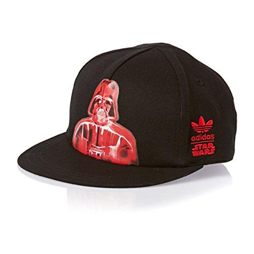 adidas Originals Star Wars Kinder Trucker Cap Mütze Basecap Darth Vader Black 54, Farbe:Schwarz/Rot, Größe:One Size