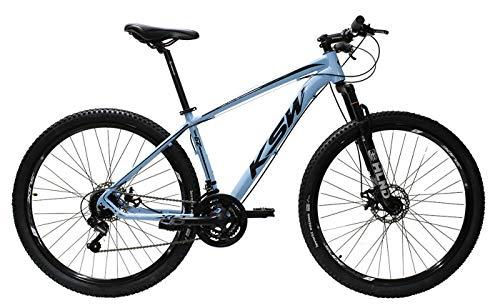 Bicicleta Aro 29 Ksw Aluminio Cambios Shimano 21 Marchas (Azul claro, 19)