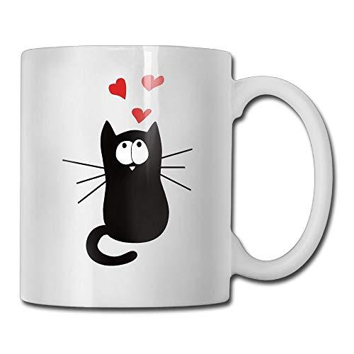 Not Applicable Kaffeetassen, Love Pussy Cat Keramikbecher, Bunte schöne geschmacklose Keramik Kaffeetassen für Kinder, Erwachsene,11 Oz