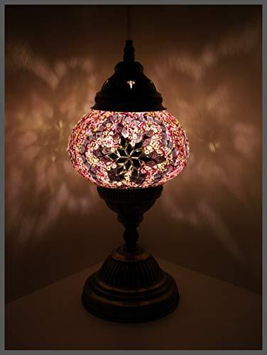 Mosaiklampe Mosaik - Tischlampe M Stehlampe orientalische lampe LILA - STERN Samarkand-Lights