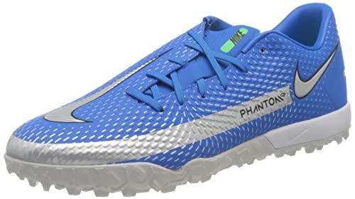Nike Phantom GT Academy TF, Scarpe da Calcio Unisex-Adulto, Photo Blue/Mtlc Silver-Rage Green-Black, 44 EU