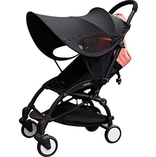 Universal Stroller Canopy Summer Sun Protective Rays CoverShade Maker Baby Infant Stroller Anti-UV Windproof Awning Sunshade Umbrella Canopy Visor Cover for Stroller Carriage Pram (Black)