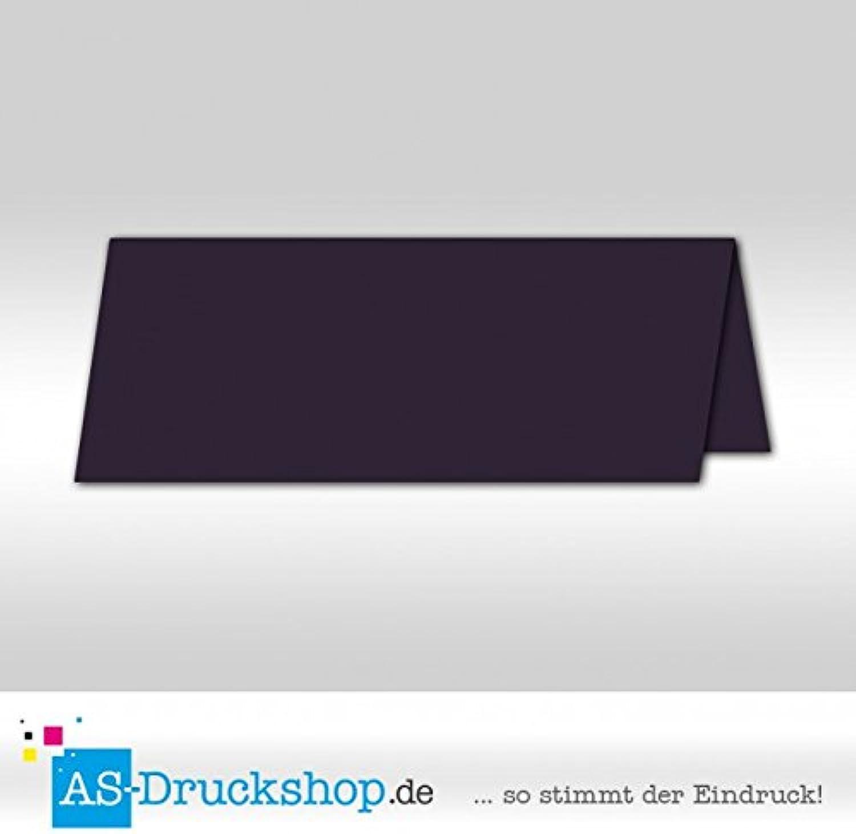 Große Tischkarte Platzkarte - Aubergine - satiniert 100 Stück 13,2 x 5,1 cm B079Q1DGJ3 | Sale Düsseldorf