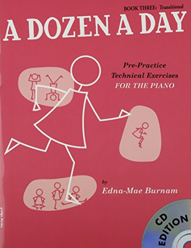 A Dozen A Day: Book Three - Transitional Edition (Book And CD) [Lingua inglese]