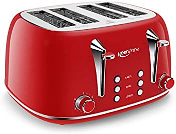 Keenstone Retro 4 Slots Stainless Steel Toaster