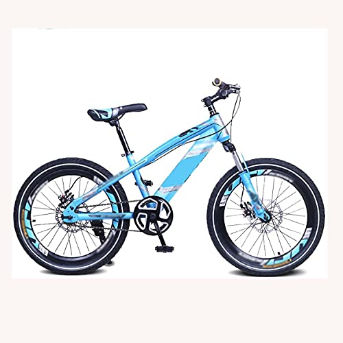 HUAQINEI Bicicleta para niños Regalos para Bicicletas Bicicletas para niños Bicicletas de montaña Freno de Disco de una Velocidad Horquilla de suspensión Delantera para niños de 5 a 14 años, 16