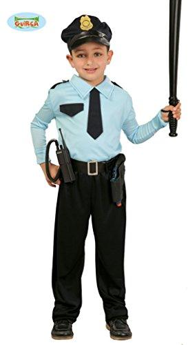 Guirca 82732 Déguisement de Policier Gardien de Sauvetage, Bleu Ciel/Noir, 10-12 Ans