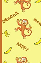 "Monkey + Banana + Happy Notebook: Blank Lined 6""x9"" Journal"