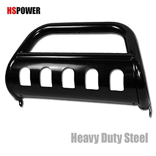HS Power Black HD Heavy Duty Steel Bull Bar Compatible Compatible with 2005-2007 Grand Cherokee 2006-2010 Commander Brush Push Front Bumper Grill Grille Guard