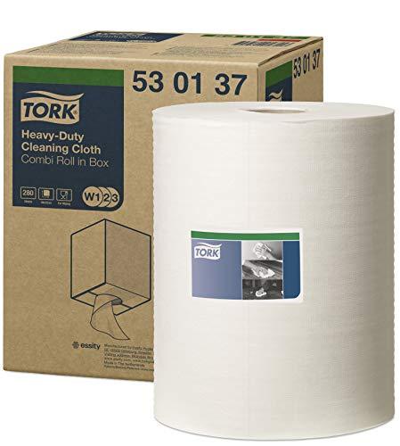 Tork 129262 Standard Papierwischtücher für W1 Bodenständer- und Wandhalter-System & W2 Innenabrollung Maxi System / 2-lagige, stabile Papiertücher in Weiß / Universal Qualität / 2 x 340 m