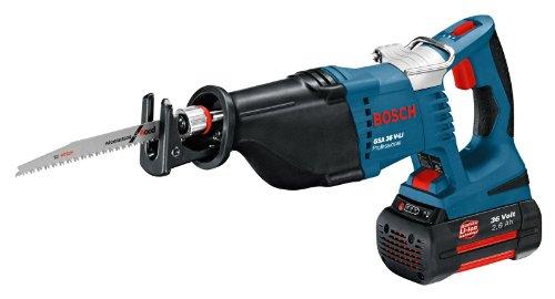 Bosch GSA 36 V-LI - Sierra de sable (Litio-Ion, 36 V, 2.6 Ah, 4200 g) Negro,...