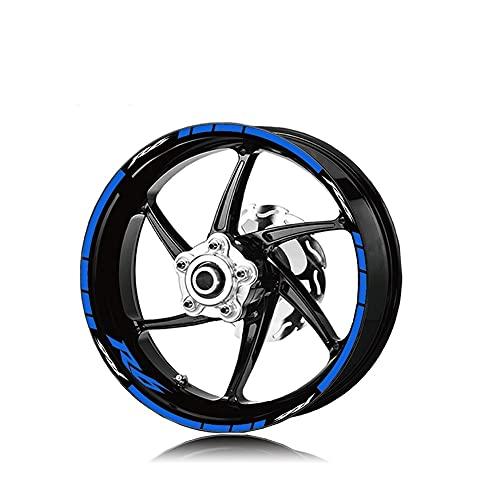 Protector DE Tanque Moto para Yam-AH-A R6 R6 Neumático De Motocicleta Impermeable Logotipo De La Rueda Pegatina Llanta Personalidad Traje De Rayas Reflectantes Calcomanías de Motocicli