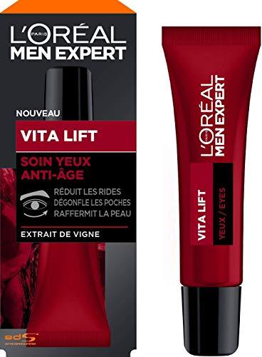 L'Oréal Men Expert - Soin Yeux Anti-Âge pour Homme - Pour les Peaux Matures - Vita Lift - 15 ml