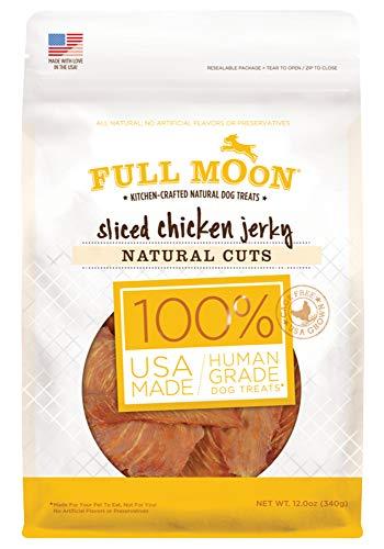 Full Moon All Natural Human Grade Dog Treats, Natural Cut Jerky, Sliced Chicken, 12 Ounce
