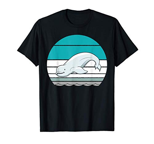 Beluga Whales in Retro Style T-Shirt