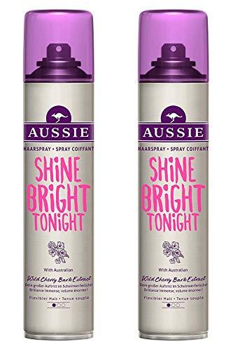 2 X 250ml Aussie Wunder Haarspray ( Glanz + Halter) Flexibel Halter Haarspray