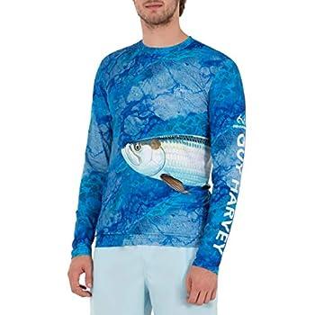 Guy Harvey Men s Camo Tarpon Sun Protection Long Sleeve Shirt Caribbean Sea Tarpon XX-Large